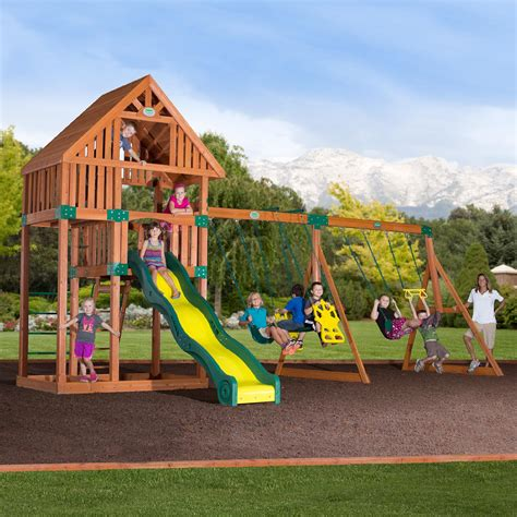 Backyard Swing Sets Costco Outdoor Swing Set From Sears