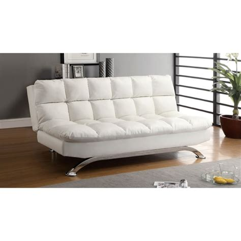 Tufted Sofa Sleeper Furniture Of America Tufted Leather Sleeper Sofa Bed In White Idf 2906wht