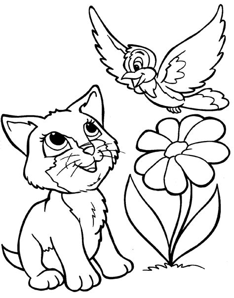 printable coloring pages of cats and dogs printable dog coloring pages dog and cat coloring simple