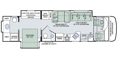 thor rv floor plans full specs for 2016 thor motor coach palazzo 36 1 rvs