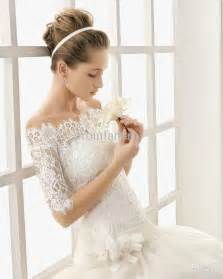 wedding dresses with the shoulder sleeves vintage lace the shoulder wedding dress with