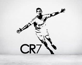 Wallsticker Logo Madrid cristiano ronaldo etsy