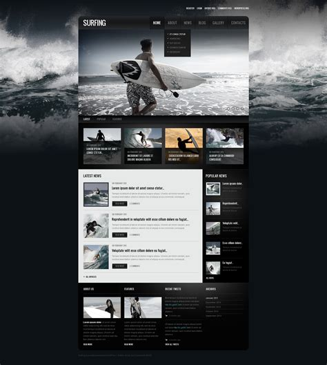 drupal themes overview surfing responsive drupal template 39988