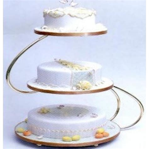 Wedding Cakes Stands by Pme S Shape 3 Tier Gold Wedding Cake Stand Pme From Cake