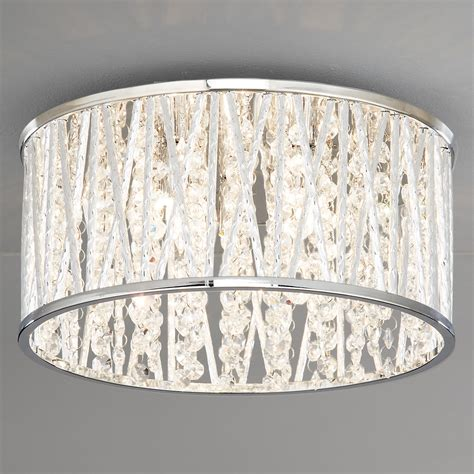 Drum Lighting For Ceilings Drum Ceiling Light With Crystals Home Lighting Design Ideas