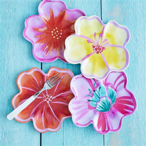 sur la dinnerware sur la hibiscus melamine plates rank style