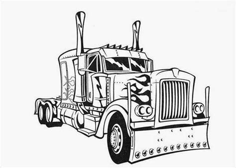 semi truck coloring pages coloring pages transformers optimus prime printable