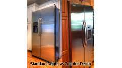 what is counter depth vs standard depth refrigerator sizing buying guide abt