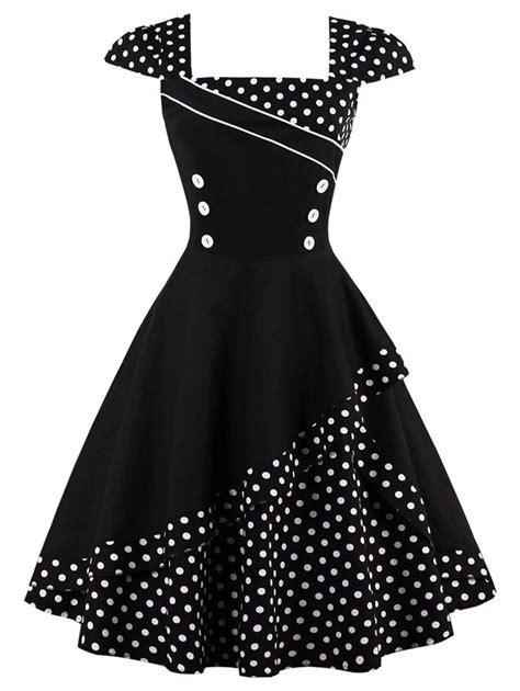 dot pattern frocks buttoned polka dot vintage corset dress vintage corset