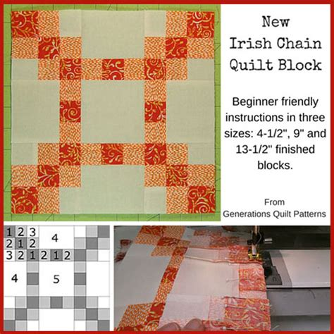 Chain Quilt Tutorial by New Chain Quilt Block 4 1 2 Quot 9 Quot And 13 1 2 Quot