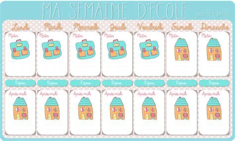 Calendrier Ecole Le Calendrier De La Semaine D 233 Cole 224 Imprimer Cadeau