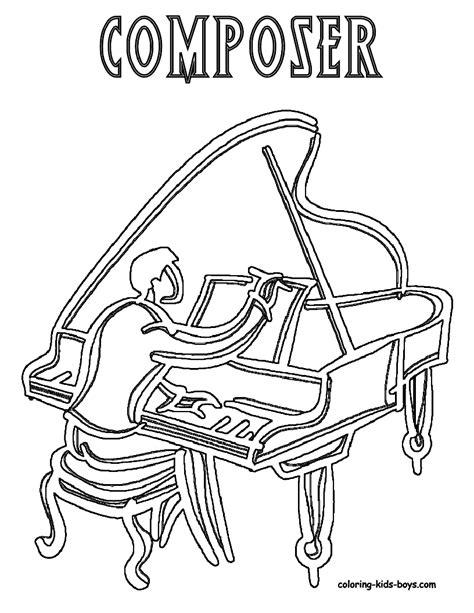 coloring page girl playing piano mighty piano musical instrument coloring piano free