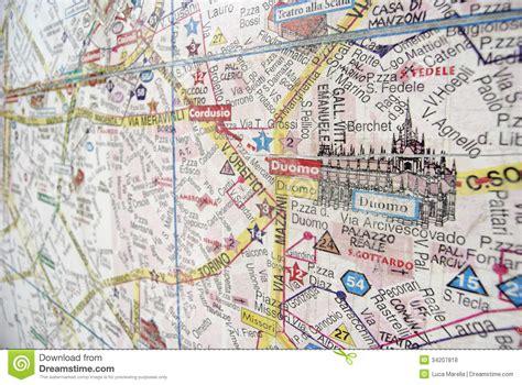 amalfitana pavia city map of milan stock photo image of paper capital