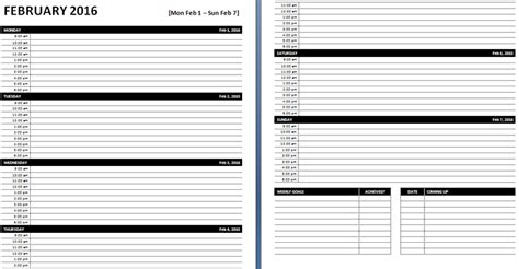 microsoft weekly planner template daily weekly ms word planner templates office