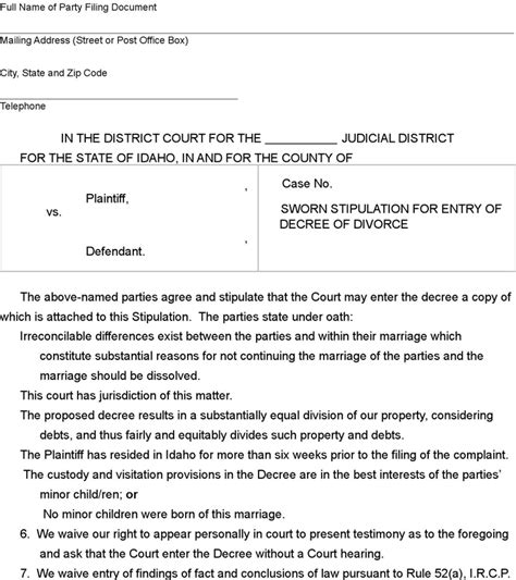 Oklahoma Divorce Records Free Doc 728972 Free Oklahoma Divorce Decree Form Docpdf