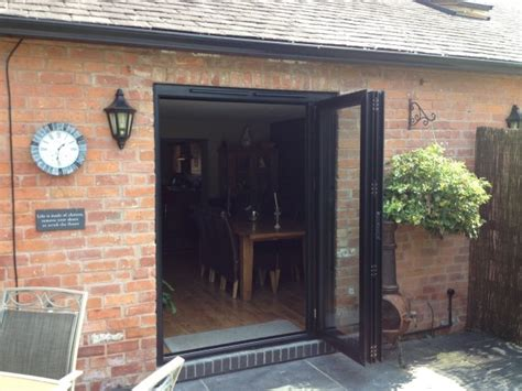 Exterior Bi Folding Doors Replacing Patio Doors Aluminium Bi Folding Exterior