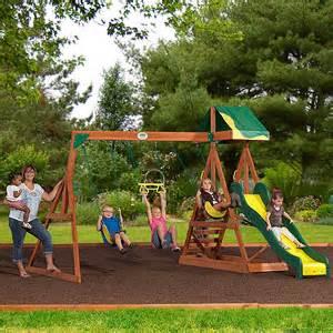Backyard Discovery Cedar Wooden Swing Set Purchase The Backyard Discovery Aspen Cedar Swing Set At