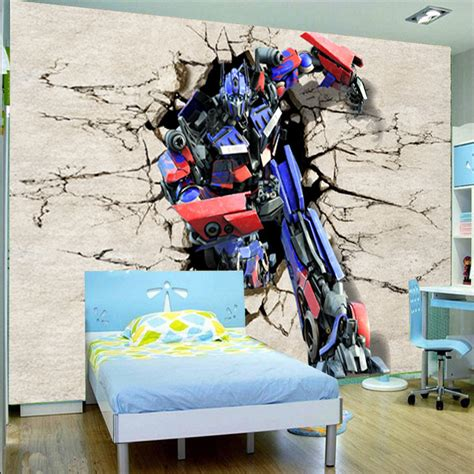 Transformers Wall Mural customize 3d transformers mural wallpaper home decor photo