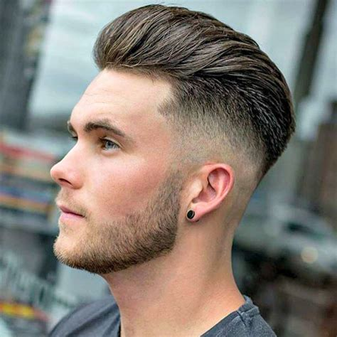 Mens Hair Cuts With Pushed Bach Over Ears | 25 young men s haircuts