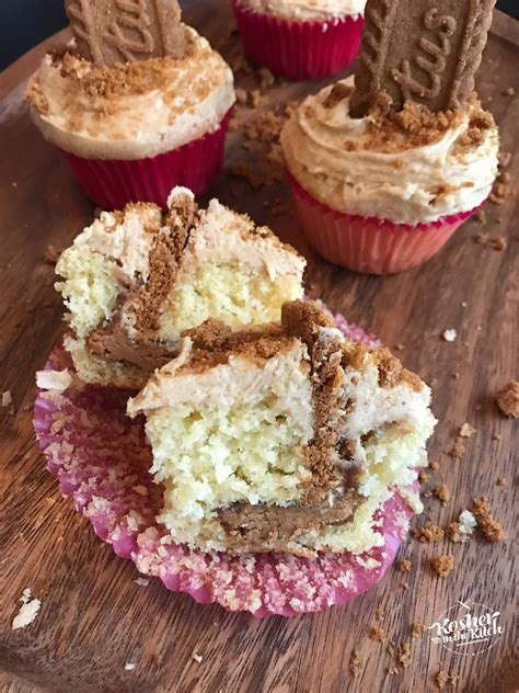 lotus cookie butter lotus cookie butter cupcakes kosher in the kitch