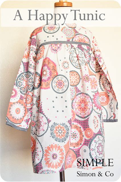clothes pattern companies funky fabrix a happy tunic tutorial by simple simon and