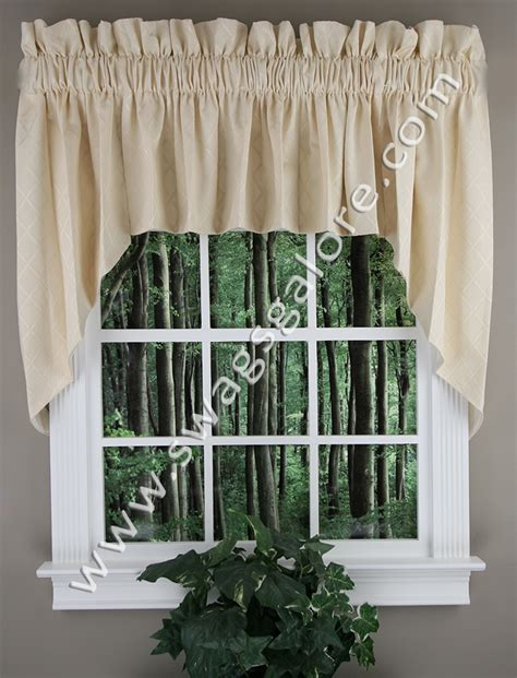 lined kitchen curtains bridget 36 lined swag set charcoal rhf jabot swag