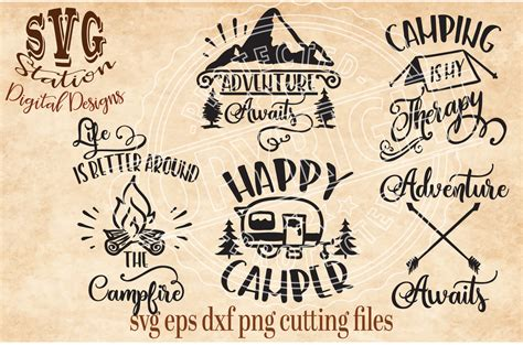 wordpress templates for websites camping outdoors svg dxf png eps cutting file silhouette