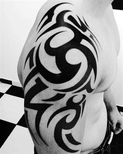 mens tribal tattoos on shoulders and arms 80 tribal shoulder tattoos for masculine design ideas