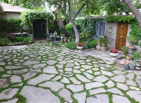 Rock Patio Designs And Grass Patio Icamblog