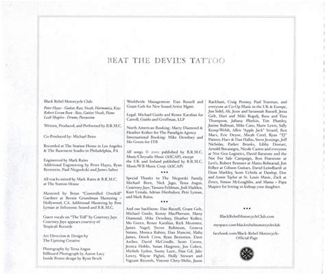 beat the devil s tattoo lyrics beat the s black rebel motorcycle club