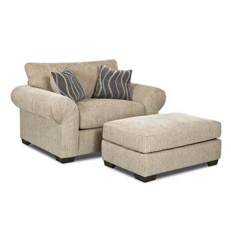 Klaussner Tiburon Chair And Ottoman Set Atg Stores Chair And Ottoman