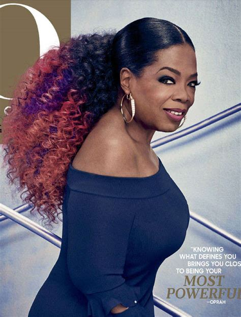 Oprah Hairstyles by Oprah Winfrey Rocks Pink And Purple Hair On O The Oprah