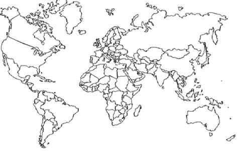 disegno di mappa degli stati del mondo da colorare
