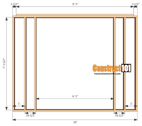 10 By 12 Shed Floor - shed plans 10x12 gambrel shed construct101