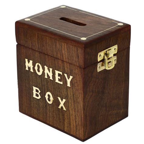 Money Bank shalinindia money banks handcrafted wooden money box safe