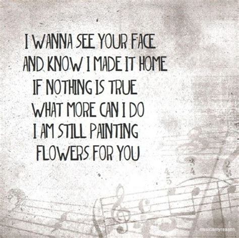 painter lyrics painting flowers all time low song quotes