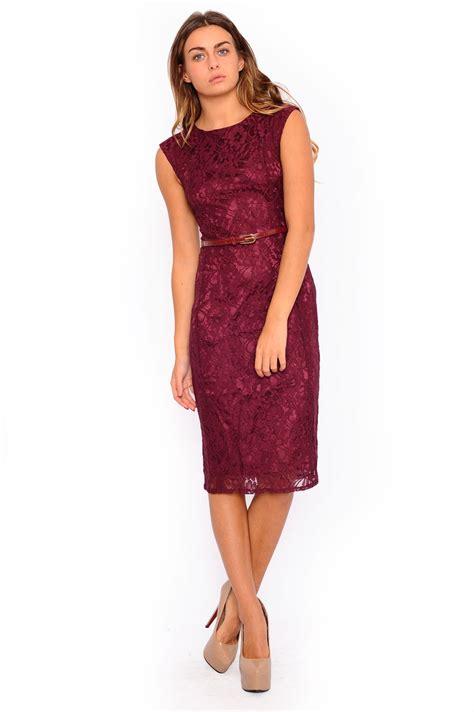 Emily Lace Dress emily lace midi dress in burgundy iclothing