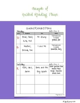 fountas and pinnell guided reading lesson plan template 1000 ideas about notes template on