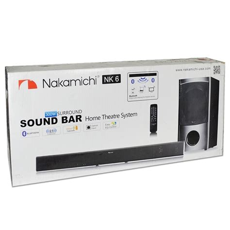 nakamichi nk6 38 quot 2 1 channel 300w bluetooth surround