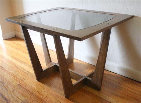 modern glass end tables mid century modern sculpted side end tables with glass