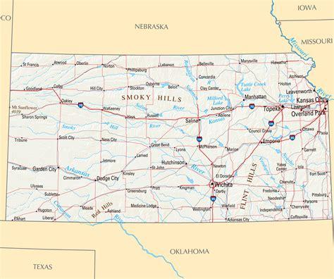 printable kansas road map kansas state map cities kansas map