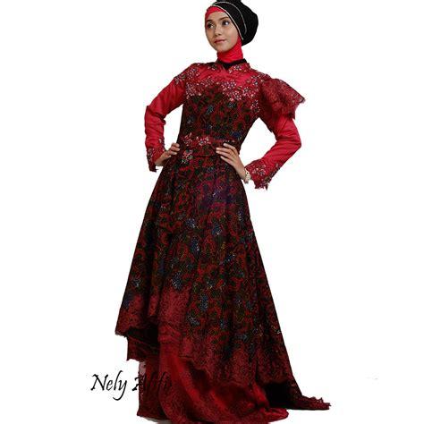 Gaun Batik gaun pengantin batik kebaya modern lace payet
