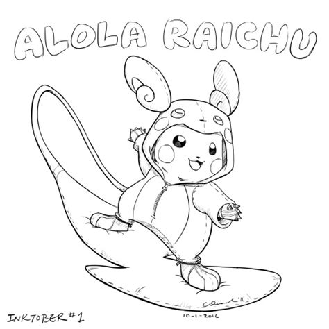 raichu coloring page alola raichu coloring page coloring pages