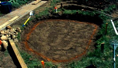 digging a backyard pond digging the backyard pond presented by plantsgalore com