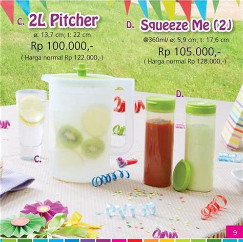 Pitcher 2 L Tupperware By Felrare tupperware 2l pitcher katalog tupperware promo