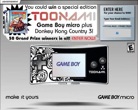 Toonami Giveaway - gameboy micro giveaway png