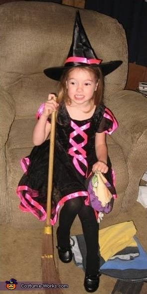 witch homemade halloween costume  girls