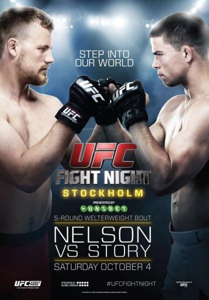 ufc card template ufc fight 53 nelson vs story live fight results