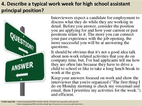 top 10 high school assistant principal questions and answers