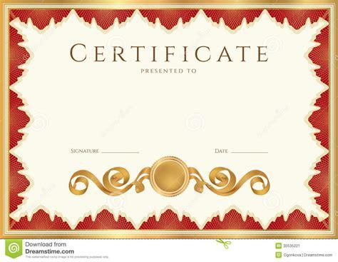 Fondo Del Diploma/del Certificado Con La Frontera Roja